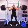 Doing a 240kg Rack Squat. Body weight approx. 83kg.